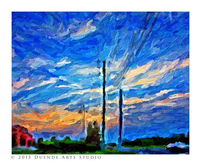 Evening Sky Impasto 6939s
